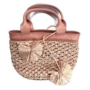 Furla Bucket Bag minibag mini purse straw woven